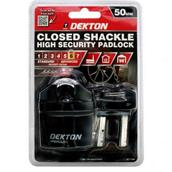 DEKDT71080 - Dekton DT71080 50mm Closed Shackle High Security Padlock