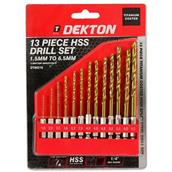DEKDT80216 - Dekton DT80216 HSS Drill Set 1.5 - 6mm 13pc