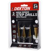 DEKDT80234 - Dekton DT80234 High Speed Step Drill Set 3pc