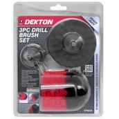 DEKDT80236 - Dekton DT80236 Drill Brush Set 3pc