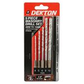 DEKDT80242 - Dekton DT80242 5pc Masonry Drill Set 4mm - 10mm