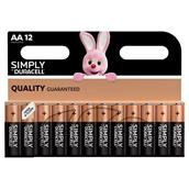 Duracell Simply AA Batteries Pack-12