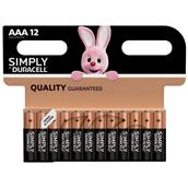 Duracell Simply AAA Batteries Pack-12