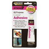 EVES2CLEAR - Everbuild Stick2 All Purpose Clear Adhesive 30ml