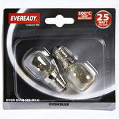 Eveready S1023 Oven Bulbs 25W SES Pack-2