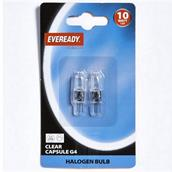 EVRS804 - Eveready S804 G4 Clear Capsule Halogen Bulb 10W Pack-2