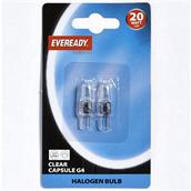 EVRS808 - Eveready S808 G4 Clear Capsule Halogen Bulb 20W Pack-2