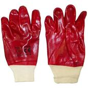 HNHPVC920 - Red PVC Knit Wrist Gloves