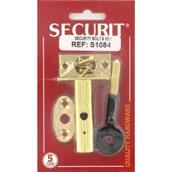 MPSS1084 - Securit S1084 Security Bolt and Key Brass Plated