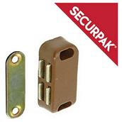 SecurPak SP10051 - Bag/10 Magnetic Catch Brown 38mm (2)