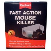 RENPSF135 - Rentokil PSF135 Fast Action Mouse Killer Box Twin Pack