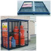 ROONGC60 - Folding Gas Cylinder Cage (Accepts 4 x 47kg and 8 x 19kg)