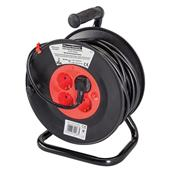 PowerMaster (197277) European Type F Schuko Cable Reel 230V 16A 25m 4 CEE 7/4 S