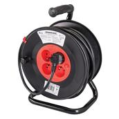 PowerMaster (197525) French Type E Cable Reel 230V 16A 25m 4 CEE 7/5 Sockets