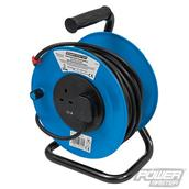 PowerMaster (303754) Cable Reel 230V Freestanding 2-Gang 25m