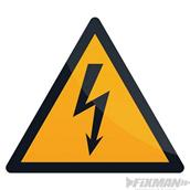 Fixman (346548) Electricity Warning Sign 100 x 100mm Self-Adhesive