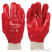 Silverline (447137) Red PVC Gloves L 10