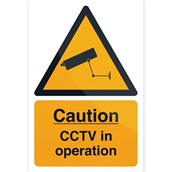 Fixman (494121) CCTV In Operation Sign 200 x 300mm Self-Adhesive