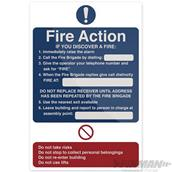 Fixman (517138) Fire Action If You Discover Sign 200 x 300mm Rigid