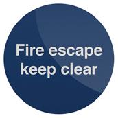 Fixman (562577) Fire Escape Keep Clear Sign 100 x 100mm Self-Adhesive