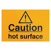Fixman (563100) Caution Hot Surface Sign 75 x 50mm Self-Adhesive