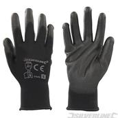 Silverline (578493) Black Palm Gloves Small