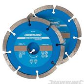 Silverline (807350) Mortar Raking Diamond Blade 2pk 115 x 22.23mm Segmented Rim