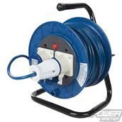 PowerMaster (851543) Industrial Cable Reel 16A 230V Freestanding 2-Gang 25m