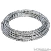 Fixman (858237) Galvanised Wire Rope 6mm x 10m