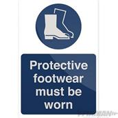 Fixman (863274) Protective Footwear Must Be Worn Sign 200 x 300mm Rigid