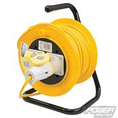 PowerMaster (868878) Cable Reel 16A 110V Freestanding 2-Gang 25m