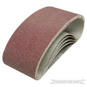 Silverline (901495) Sanding Belts 75 x 457mm 120 Grit Pack of 5