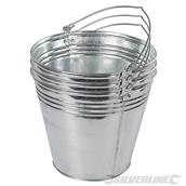Silverline (907044) Galvanised Bucket 3pk 14Ltr