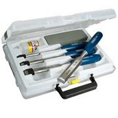 STA016130 - Stanley 0-16-130 6 Piece 5002 Chisel Set with Oil and Sharpening Stone