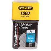 STA0TRA204T - Stanley 0-TRA204T Light Duty Staples 6mm