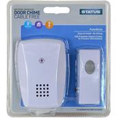 STASDC5 - Status White Door Chime Battery Operated